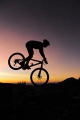 Equilibre en vélo un matin d'hiver
