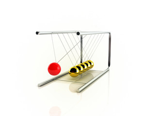 Newton's Cradle - Pendel and perpetual motion