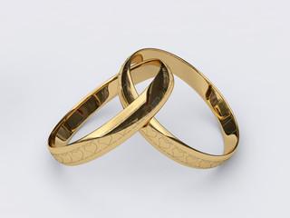 Обручальные золотые кольца с гравировкой