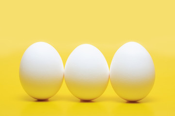 Three Hen's Eggs