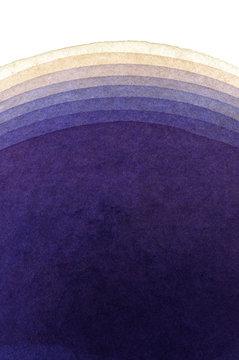 水彩による青紫の抽象画