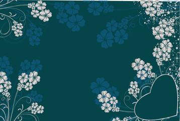 coeur st valentin bleu argent