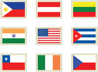 Stamps Flags 4