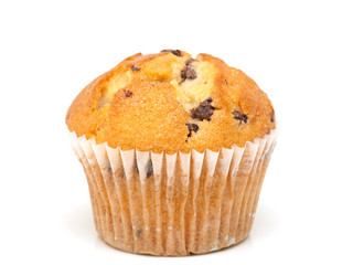 Fresh chocolate muffin close-up
