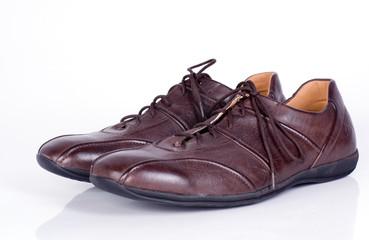 chaussures en cuir homme marron