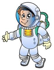 Garden Poster Cosmos Cartoon astronaut
