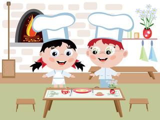 Children cook