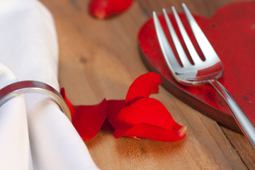 Place setting in country style