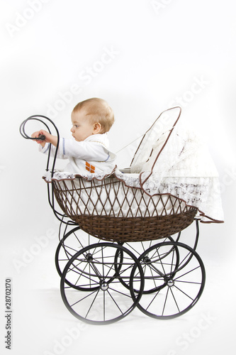 baby im kinderwagen stockfotos und lizenzfreie bilder auf bild 28702170. Black Bedroom Furniture Sets. Home Design Ideas