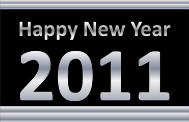 Happy New Year - Silver