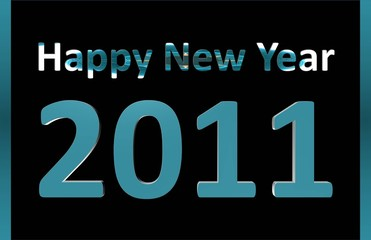Happy New Year - Winter Blue