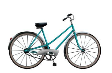 digital painting of a vintage bike