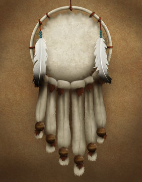 painting of a Native American dreamcatcher