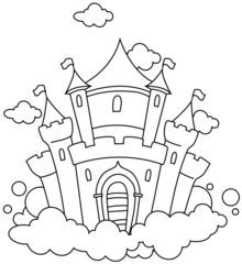 Line Art Castle