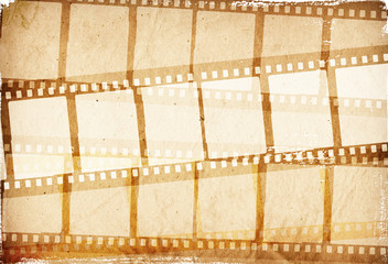 brown film strip for textures and backgrounds frame