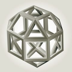 Abstract geometric 3d vector background