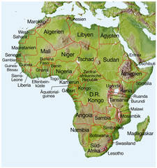 Landkarte von Afrika