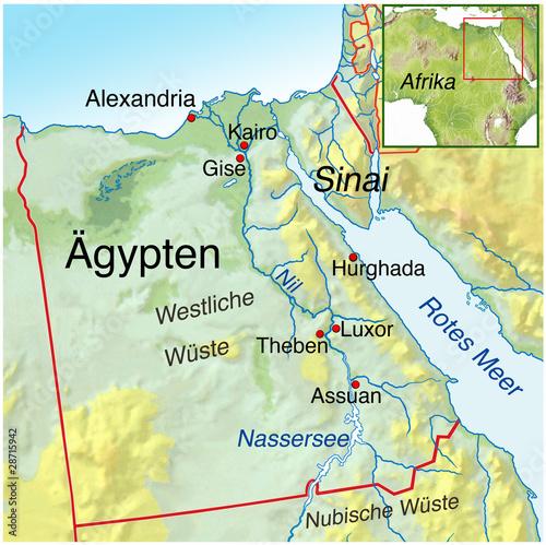 landkarte von ägypten Landkarte von Aegypten