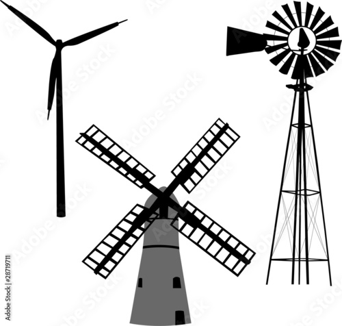 silhouette of windmill vector stock image and royalty free vector rh fotolia com windmill vector drawing windmill vector download