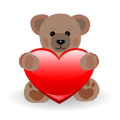 Teddy Bär mit Herz