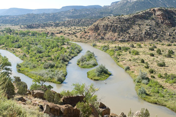 Rio Chama River North Central New Mexico Jemez Mountains, USA