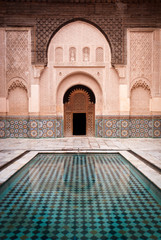 Ben Youssef Medersa Courtyard in Marrakesh Morocco