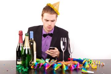 allein ohne freunde feiern telefon