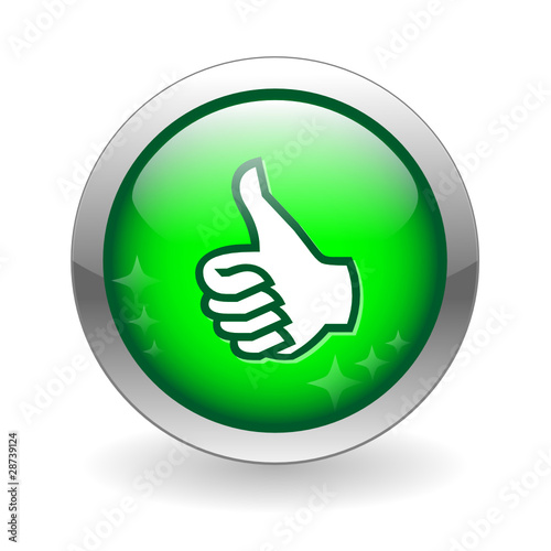 Instant Yes Button : Quot thumbs up web button customer satisfaction like vote ok