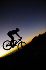 Poster Cycling VTT Freeride dans les Pyrénnées