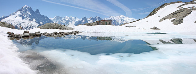Panorama sur la chaîne du Mont Blanc
