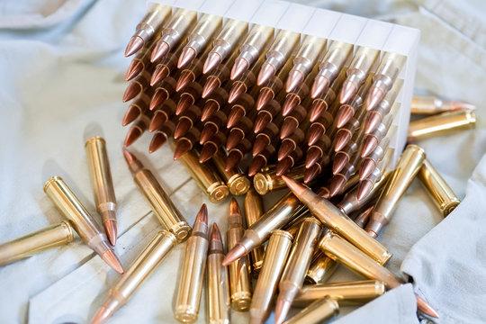 Box of .223 caliber ammo