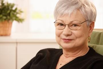 Closeup portrait of older woman
