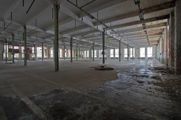 empty abandoned warehouse