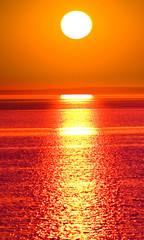 Fototapeta Sunset Gold Sun