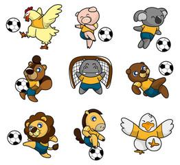 cartoon animal soccer player icon
