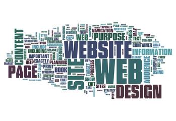 "Word Cloud ""Web Design"""
