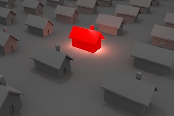 Glowing House