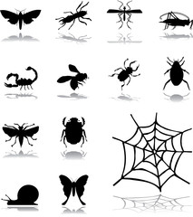 Set icons - 160. Insects