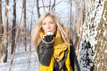 Freude in der Natur Winter Schnee Zauber