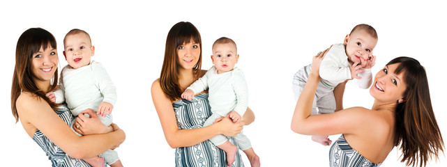 young women with her son photos