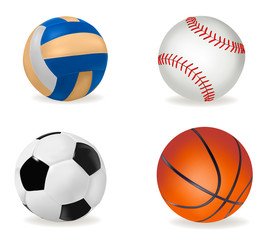 Set of sport balls. Vector illustration.