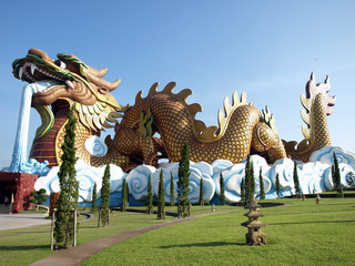 big dragon statue in Thailand