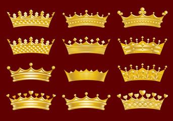 Набор золотых корон