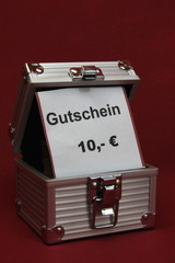Gutschein in Alubox 5/10/15/20 €