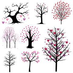 love tree vector set