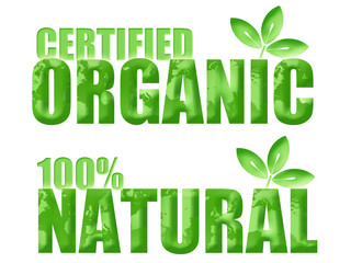 Certified Organic and Natural Symbols