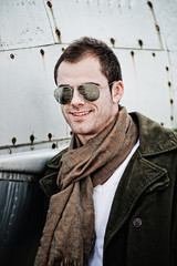 Pilot with Sunglasses