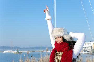 powerfull winter woman