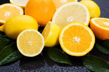 Lemon, orange nad grapefruit
