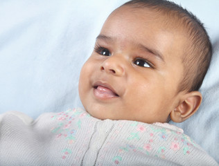 Indian Cute Baby Looking Happy